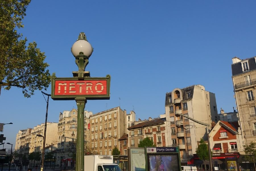 Porte Doree Metro station Paris, Paris Metro Sign