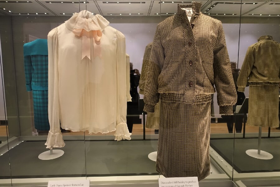 Princess Diana honeymoon wardrobe check suit