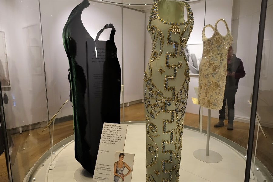 Versace beaded dress worn by Princess Diana