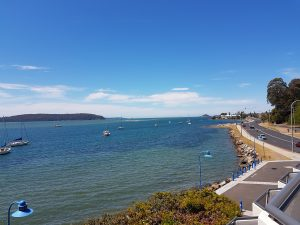 view of Clyde River Batemans Bay from The Esplanade motel