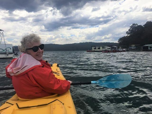 woman kayaking Batemans Bay