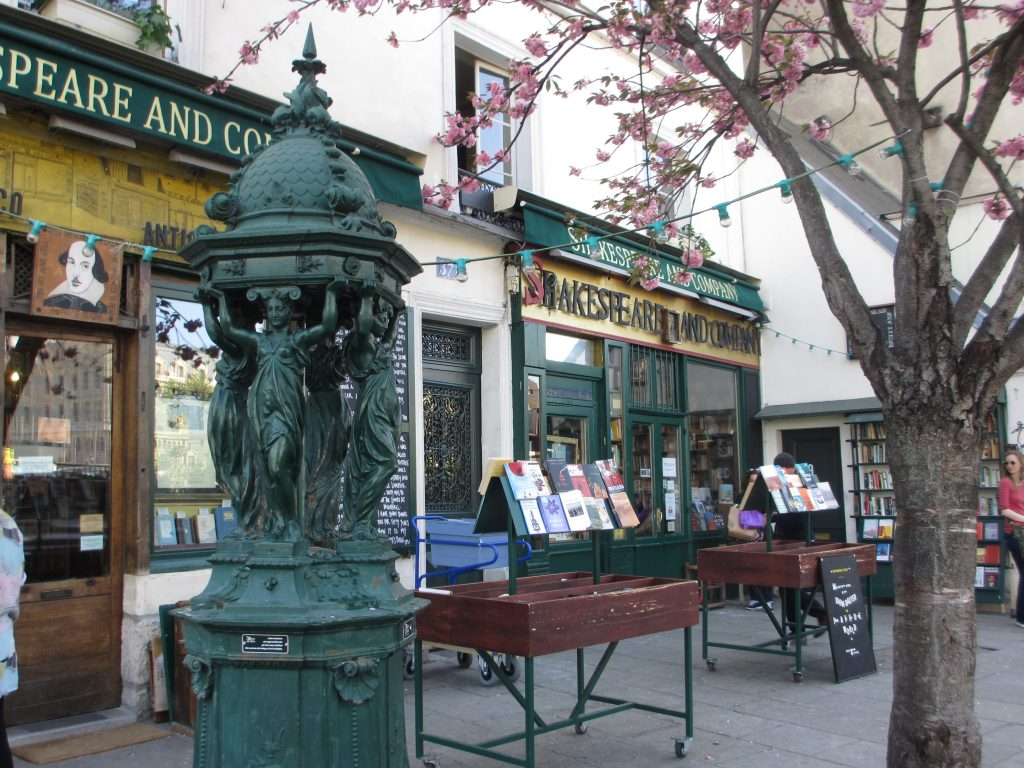 outside of Shakespeare & Co Paris