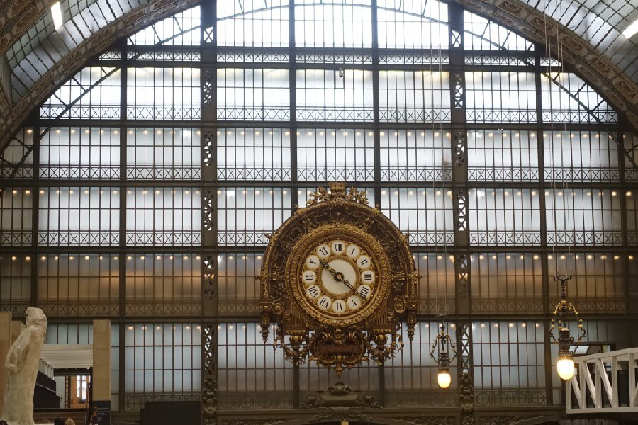 clock at the Musee d'Orsay, inside Musee d'Orsay