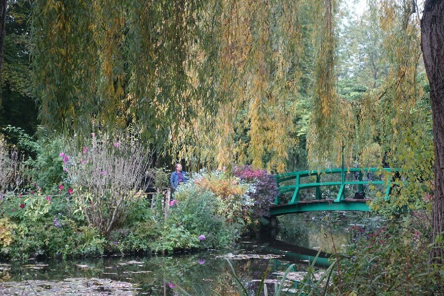 lily pond Monet's garden at Giverny with bridge
