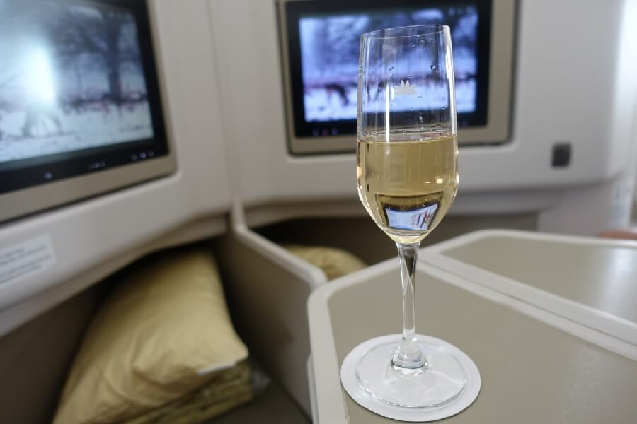 Champagne on Vietnam Airlines Business class