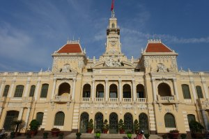 Historic building in the centre of Ho Chi Minh City Vietnam