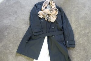 trench coat and scarf to pack for Europe
