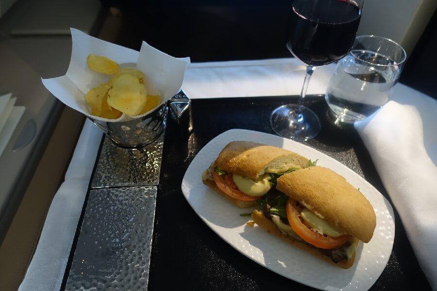 Etihad Airways Business Class Review Etihad Airways Business Class meals