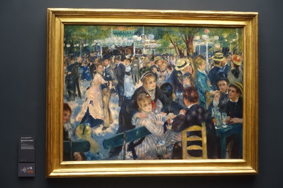Renoir painting in the Musee d'Orsay