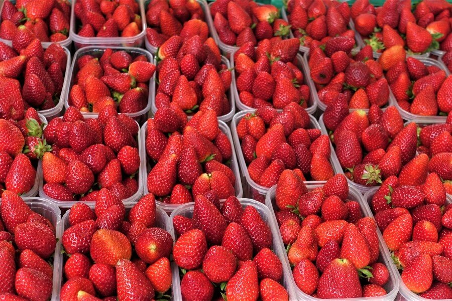 French strawberries in the market Marseille