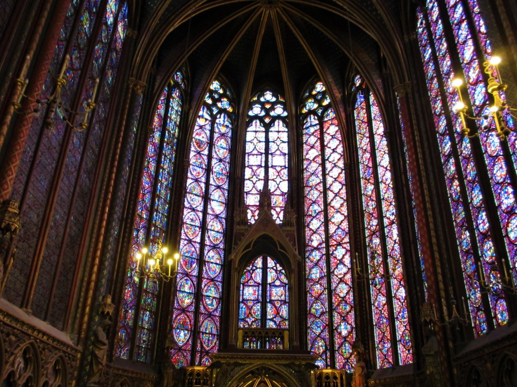 stained glass windows Ste Chapelle Paris