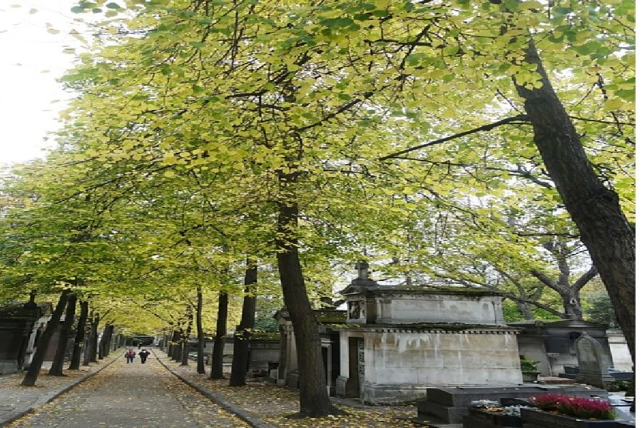 Avenues at Pere Lachaise cemetery