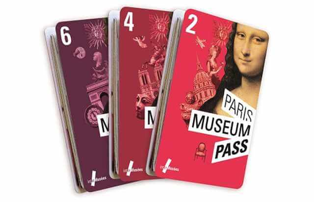 2 day, 4 day and 6 day Paris Museum Pass