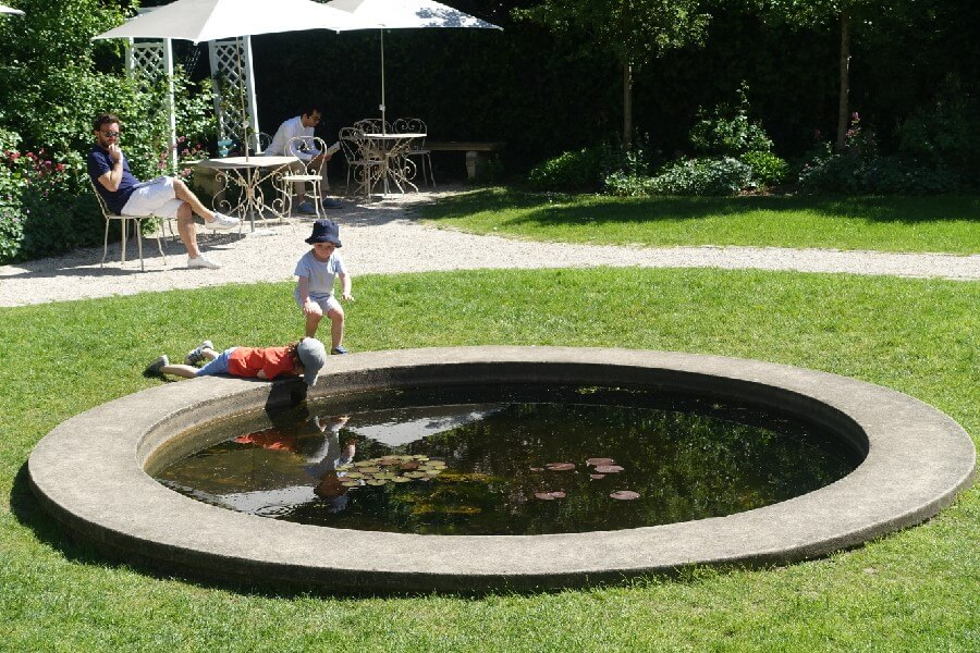 Pond in the garden of the Montmartre Museum