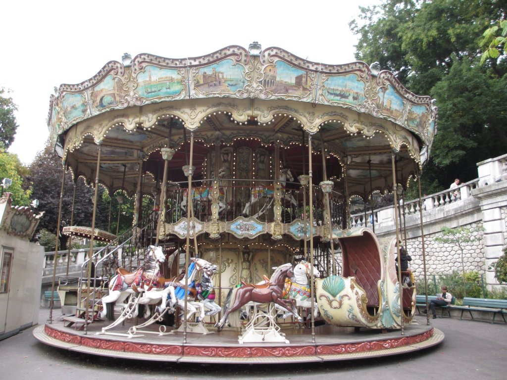 Traditional carousel at Sacre Coeur Paris