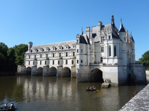 Chenonceau chateaux with moat