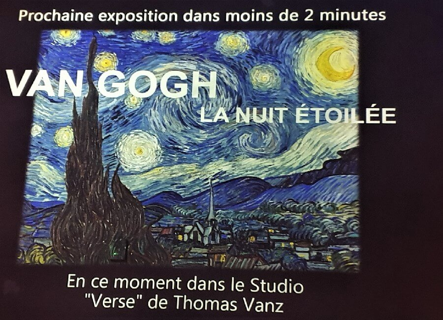Vincent Van Gogh Starry Night exhibition Ateliers des Lumieres Paris 2019