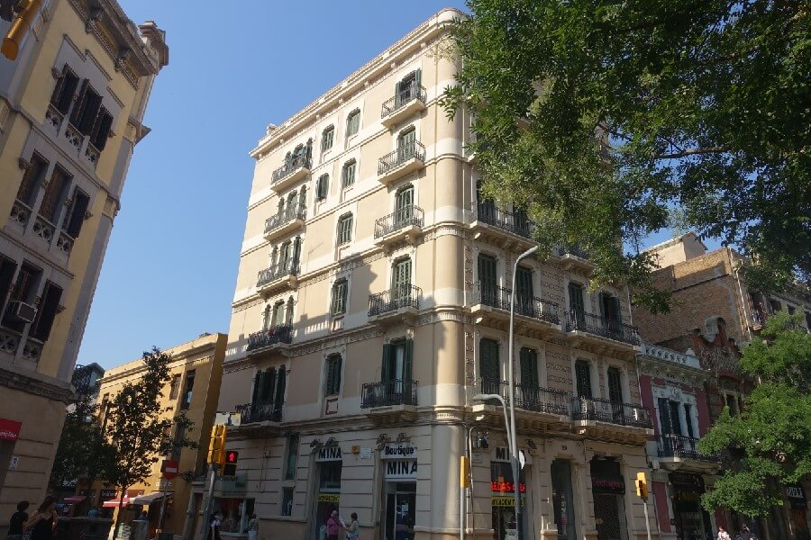 Buildings in the Sants district of Barcelona