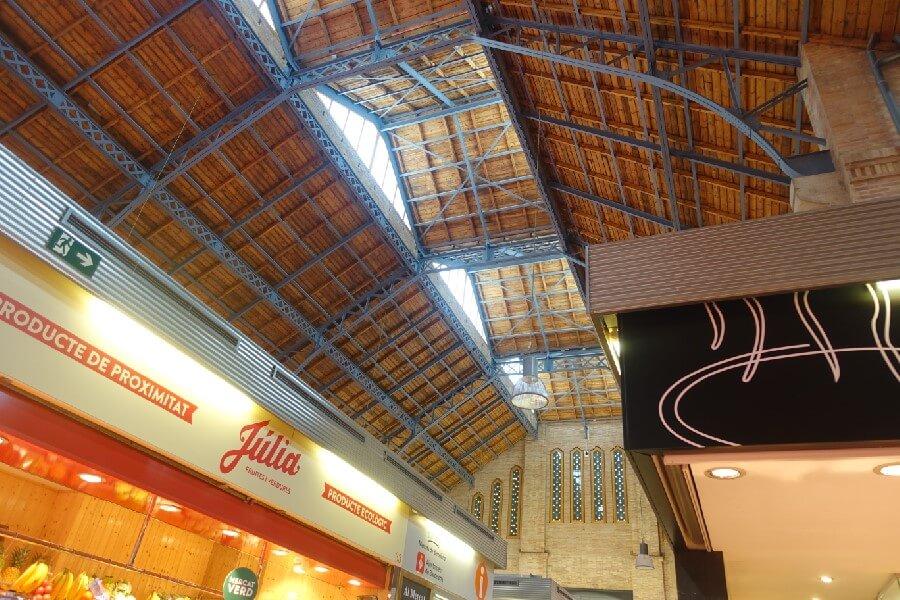 interior of Sants Market Barcelona