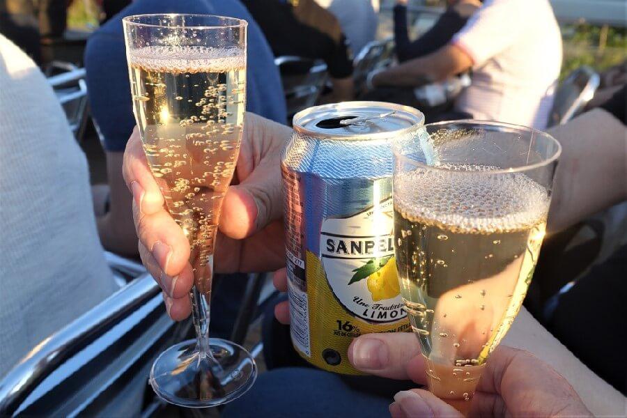 Champagne Seine River cruise Paris