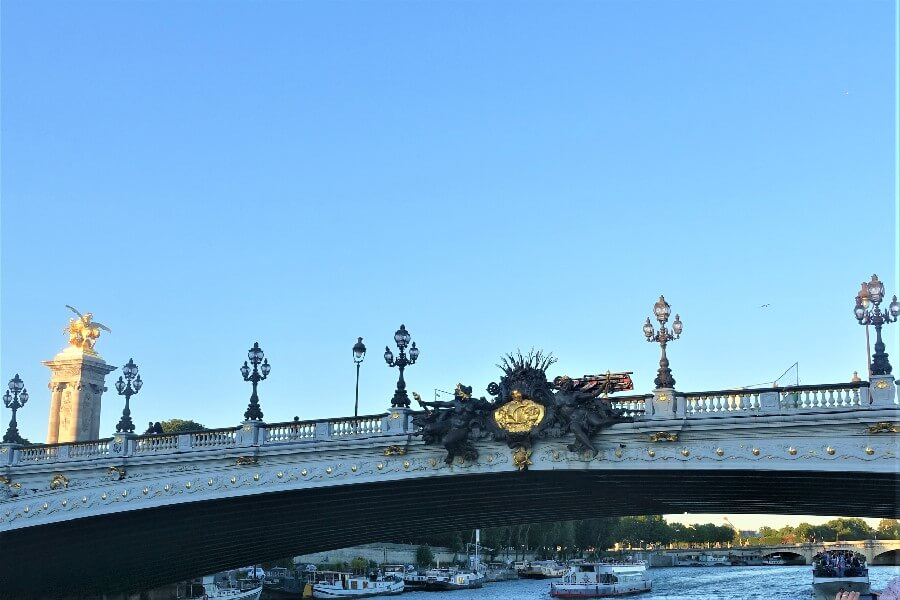 Pont Alexandre III bridge in Paris, prettiest bridge in Paris