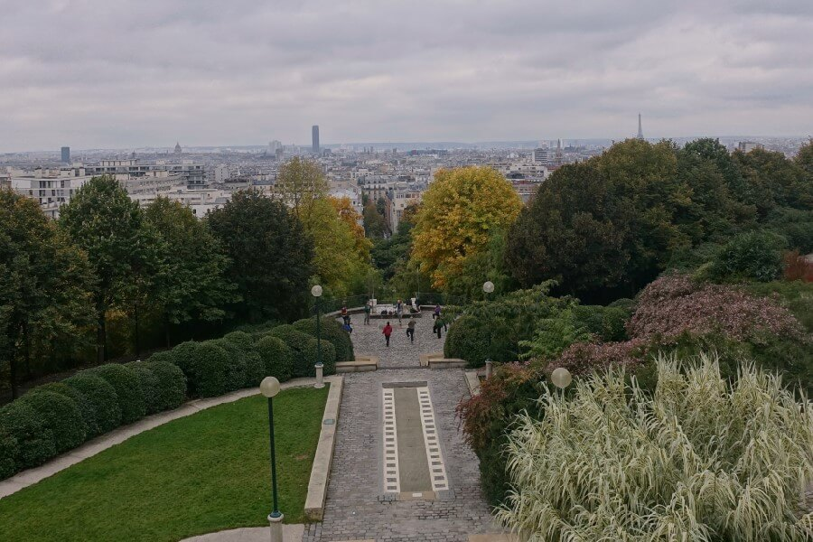 View to central Paris seen from Parc Belleville