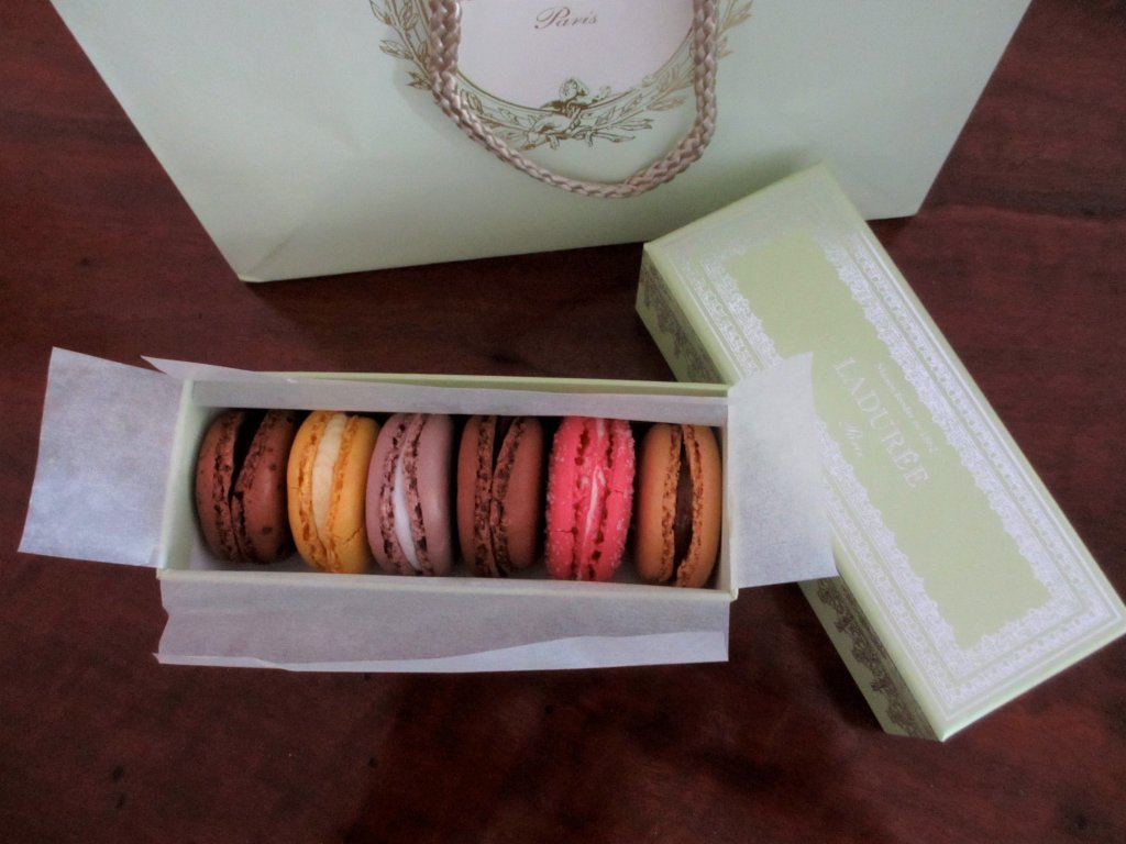 Box of Laduree macarons