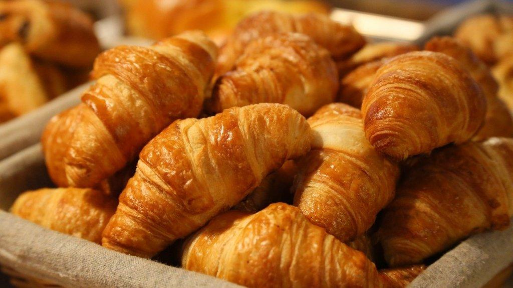 basket of croissants in Paris