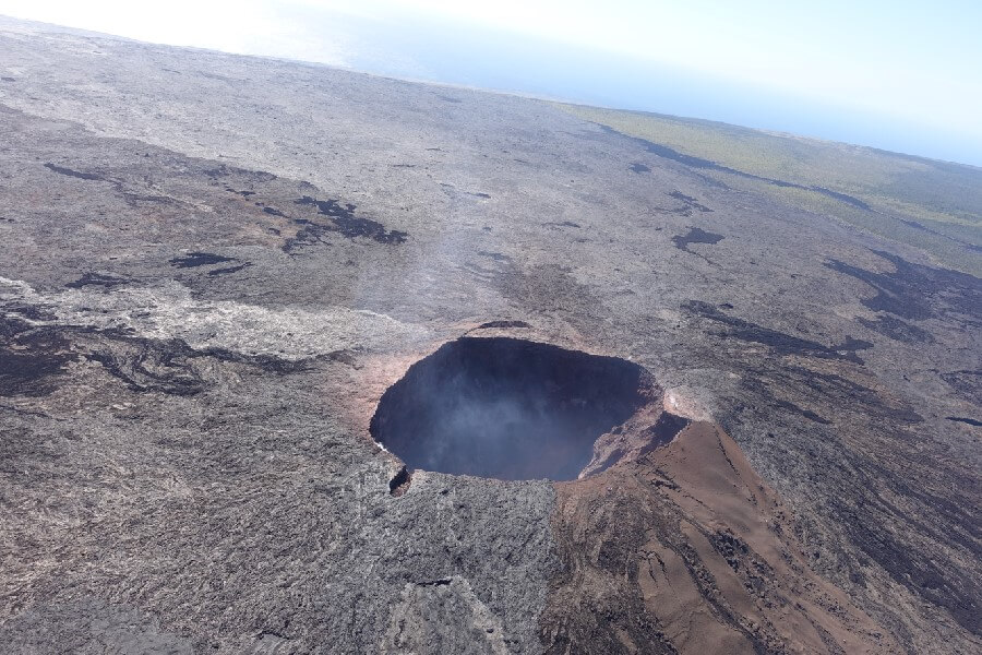 volcano crater on Big Island Hawaii