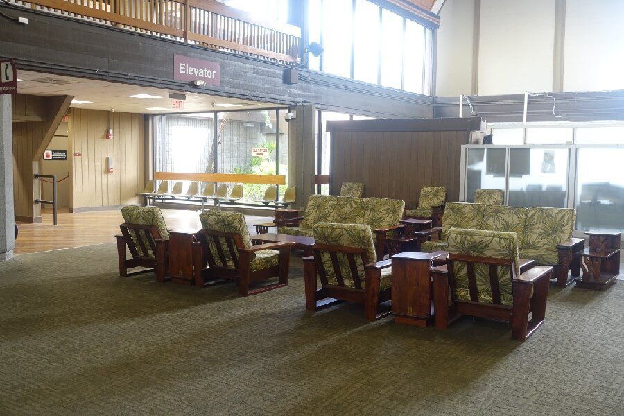 Departure lounge Hilo Airport Big Island Hawaii