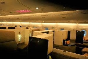 Interior Etihad A380 business class