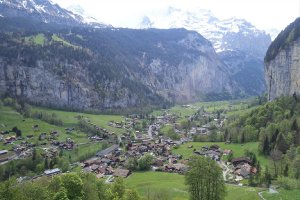 Lauterbrunnen from the air