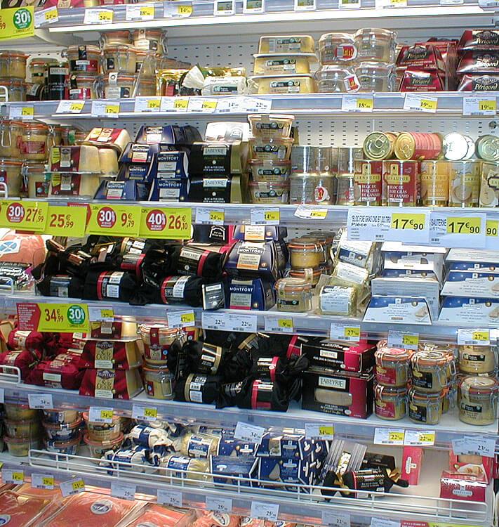 foie gras in a French supermarket