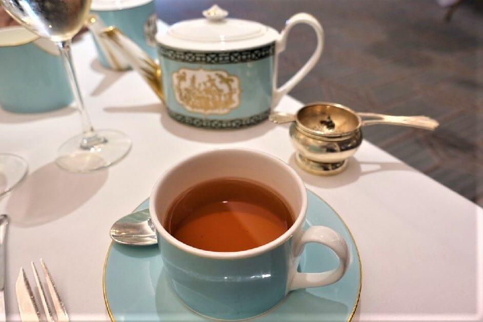Pot of tea Fortnum and Mason Diamond Jubilee Tea Room