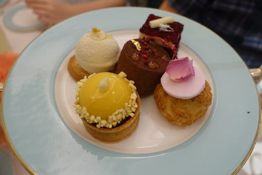 Selection of cakes and pastries Fortnum and Mason Diamond Jubilee Tea Room