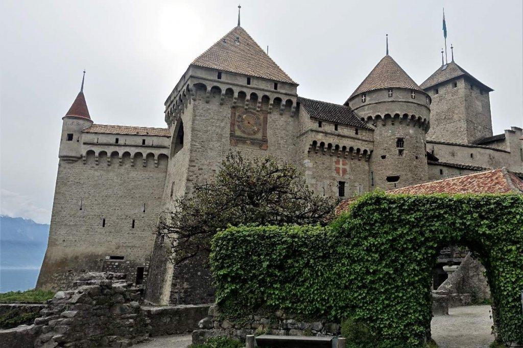 Close up of Chateau de Chillon
