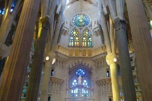 stained glass windows Sagrada Familia Barcelona Sagrada Familia tips: Sagrada Familia inside visit