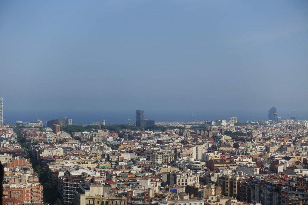 Few from the towers Sagrada Familia Barcelona